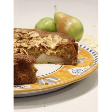 תמונה של עוגת אגסים אוורירית