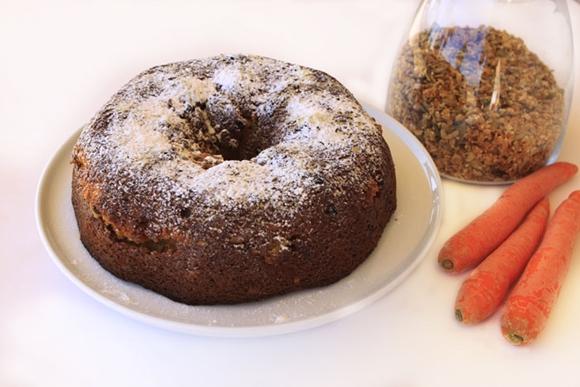 תמונה של עוגת גזר וגרנולה