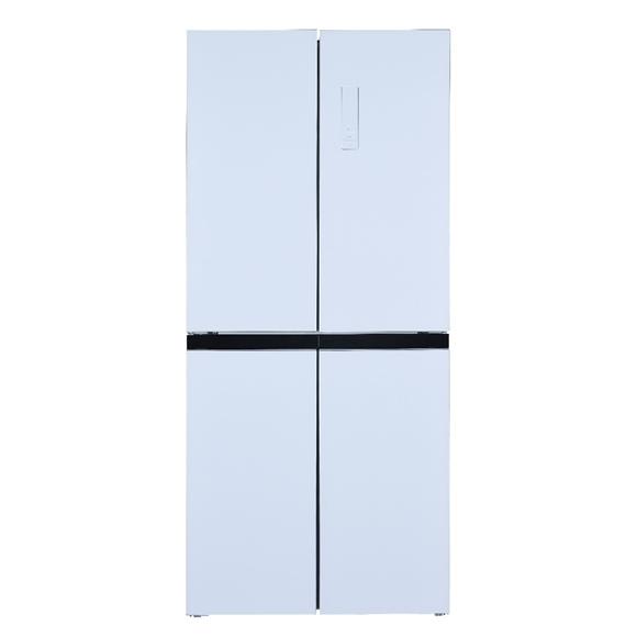 תמונה של מקרר 4 דלתות HAIER HRF-447FWזכוכית לבנה